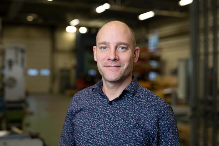 Östrand & Hansens platschef Martin Qvänstedt